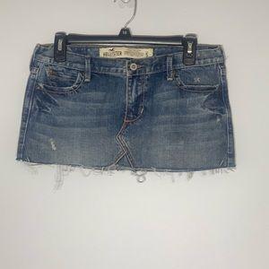 Hollister Jean Denim Medium Wash Mini Skirt 5